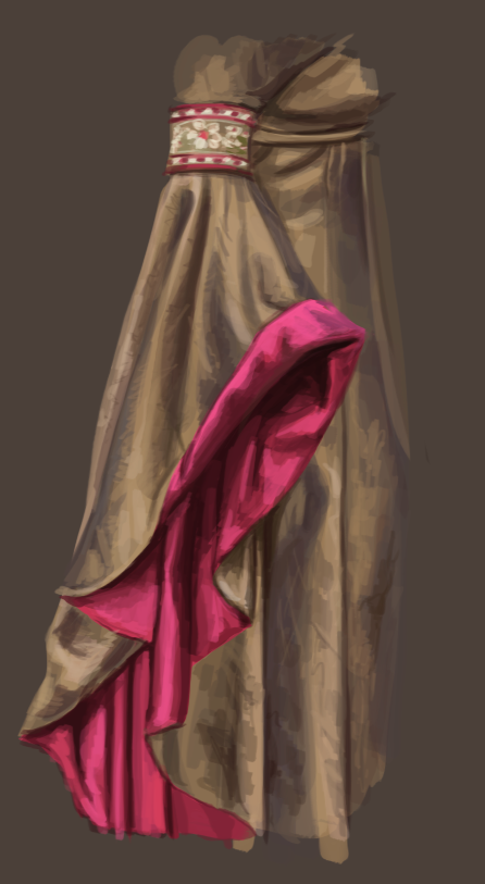 Digital Painting Study - Fabric