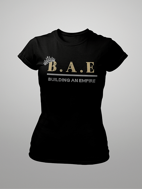 B.A.E Building An Empire Ladies Bling T-shirt Size Small - 3XL