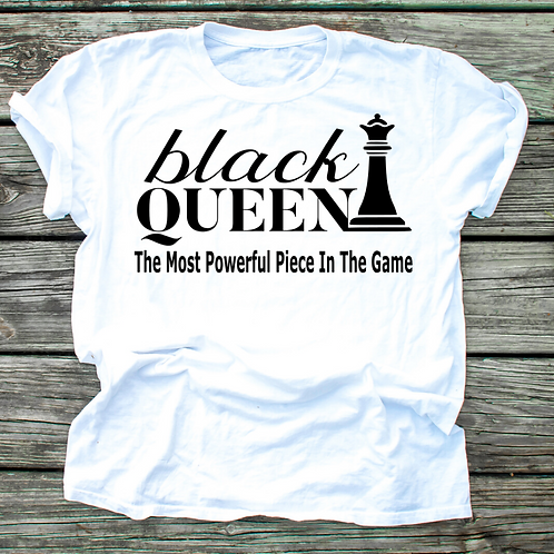 Black Queen Important- Ladies T-shirt Size Sma
