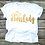 Thumbnail: #Boss Lady Gold- Ladies T-shirt Size Sma