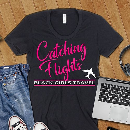 Catching Flights- Ladies T-shirt Size Sma