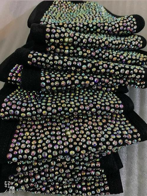 10 Diamond Crystal Bling Fashion Face Mask - Wholesale