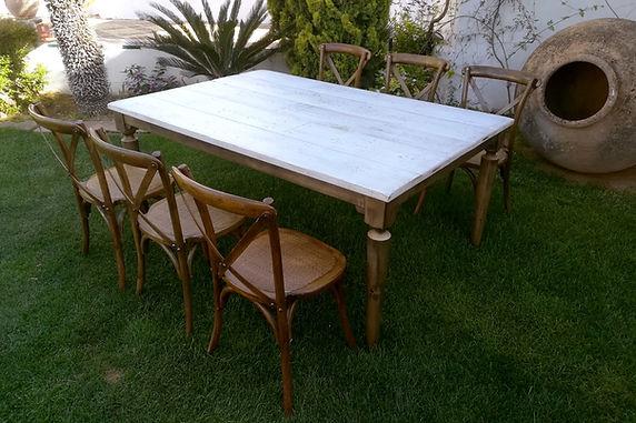 mesa vintage para eventos