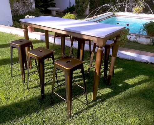 mesa vintage para catering, eventos