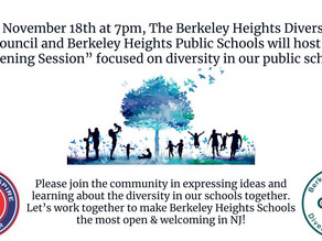Invite - Listening Session - Diversity in the BH Schools on Wednesday, November 18 at 7pm