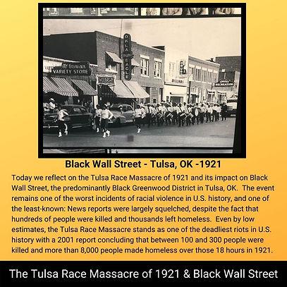 Tulsa Race Massacre of 1921 & Black Wall