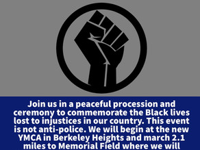 Berkeley Heights March for Black Lives, Sunday, June 7, 2020