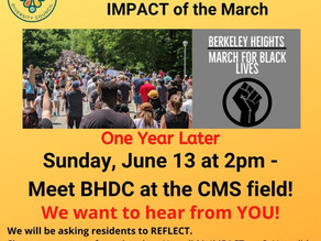 March for Black Lives - One Year Later. Beyond the March - again - to LISTEN as residents REFLECT