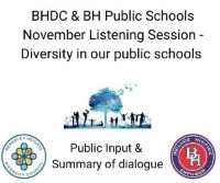 First Listening Session with BH Schools held in November. Informative, Insightful, Inspiring.