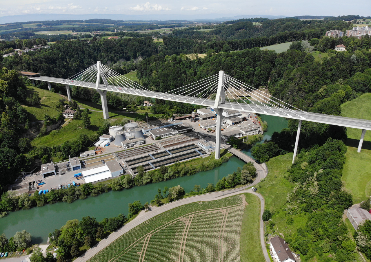 Poyabrücke Freiburg/Fribourg