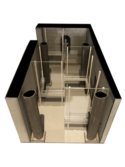 Sectional physical model (without the cieling)