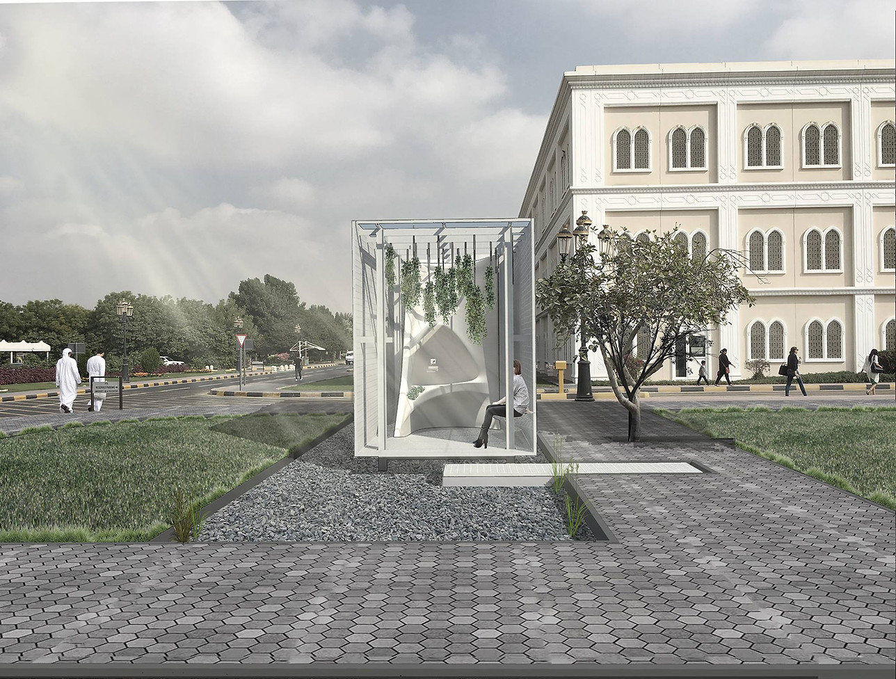 Visual of Garden Space and Drinking Fountain