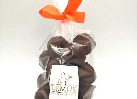 Meringues enrobées de chocolats