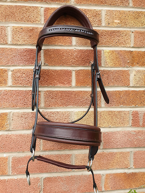 Double bridle, Chestnut/reddy brown. full size