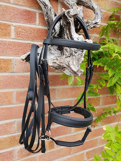 Transcend biothane Double Bridle + Side-Cue Noseband