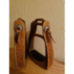 safety stirrups leather