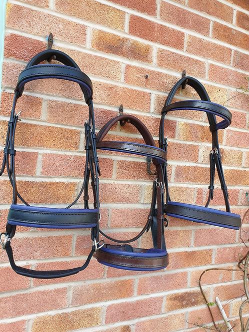 Blueberry 2 tone bridles