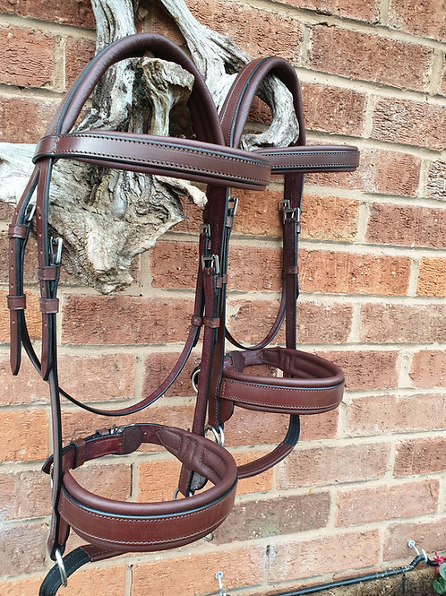 Double Bridle Chestnut & Reddy Brown LEATHER