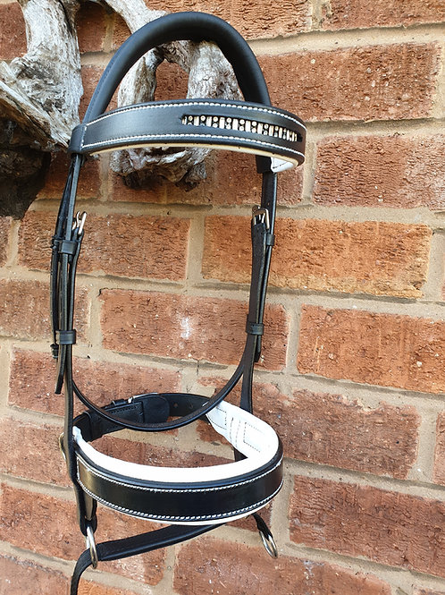 Double Bridle Swarovsky LEATHER