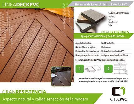 Piso Deck PVC