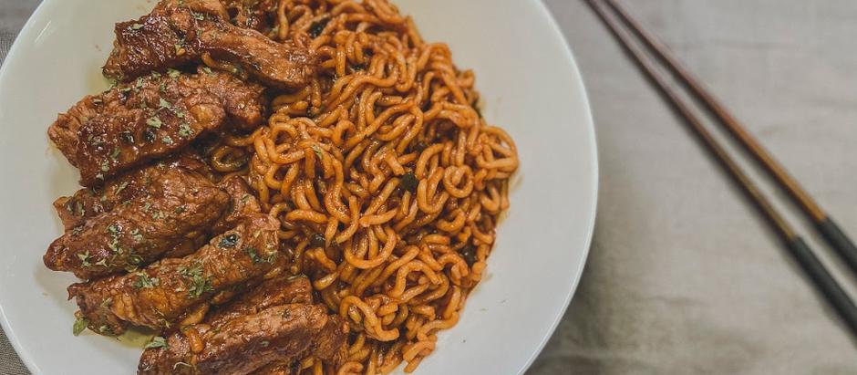 拉冬炸醬面 Chapaguri Ram-Don Noodles with Steak