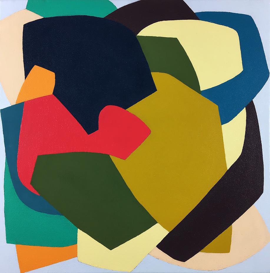 Harde edge abstract painting by Erika Larskaya