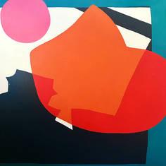 """Orange Curve, Red Shadow"""