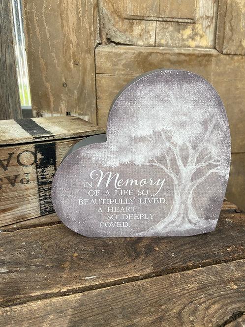 In Memory Sitting Heart