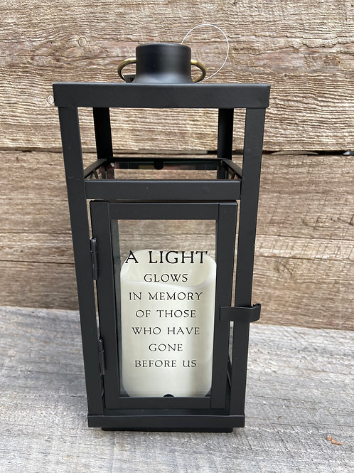 A Light Glows Black lantern
