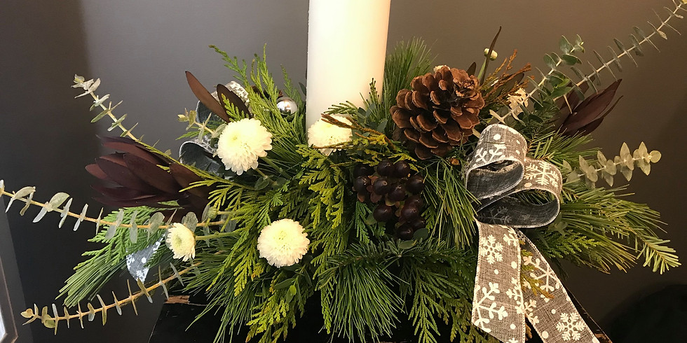 Christmas Centrepiece with Candle Workshop