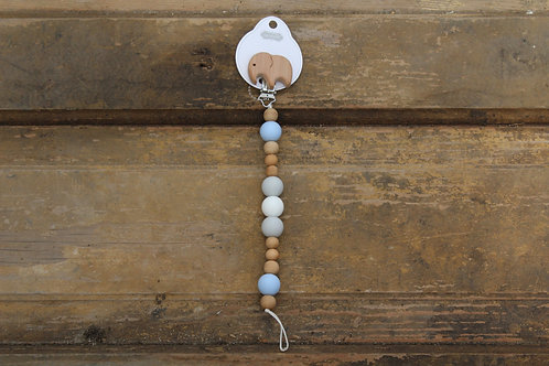 Baby - Soother Clip Elephant Blue