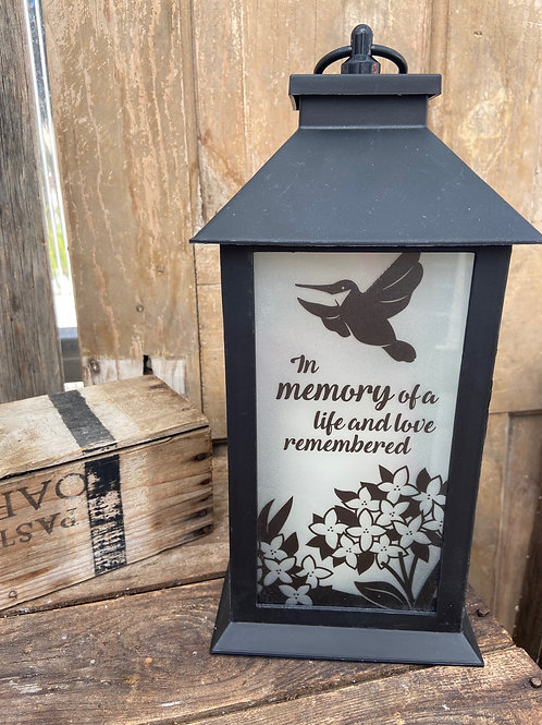 Life and Love Remembered Lantern