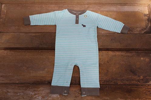 Baby - Organic Cotton Romper Blue