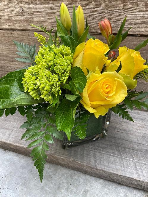 Cubed Vase Arrangement