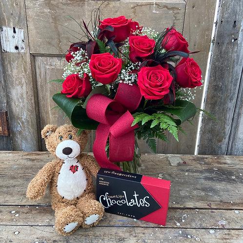 Valentine's Day Rose Vase Package