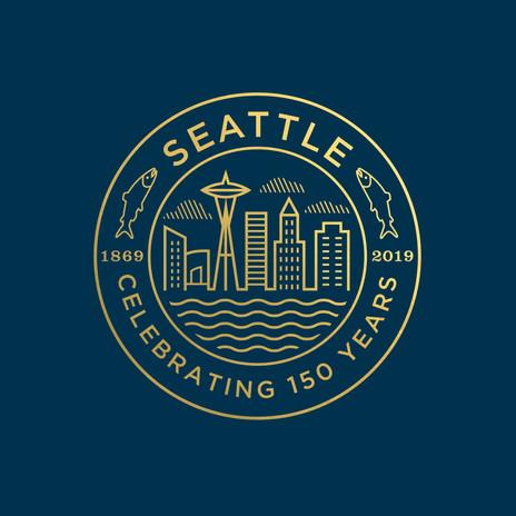 Seattle 150 Seal gold foil