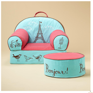 French Themed Chair and Ottoman