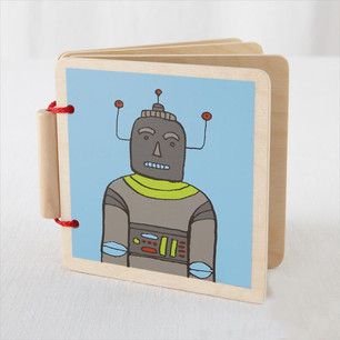 Robot Wood Book Cover