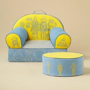 Robot Themed Chair and Ottoman