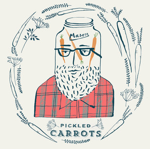 Mason Jar Head_Pickled Carrots