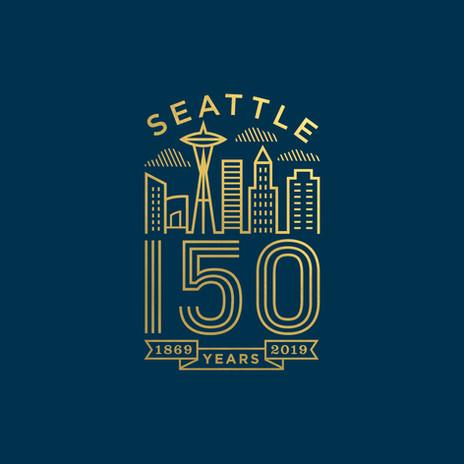 Seattle 150 Logo gold foil