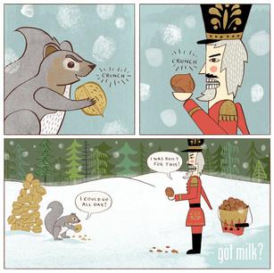 Got Milk? Nutcracker Standoff