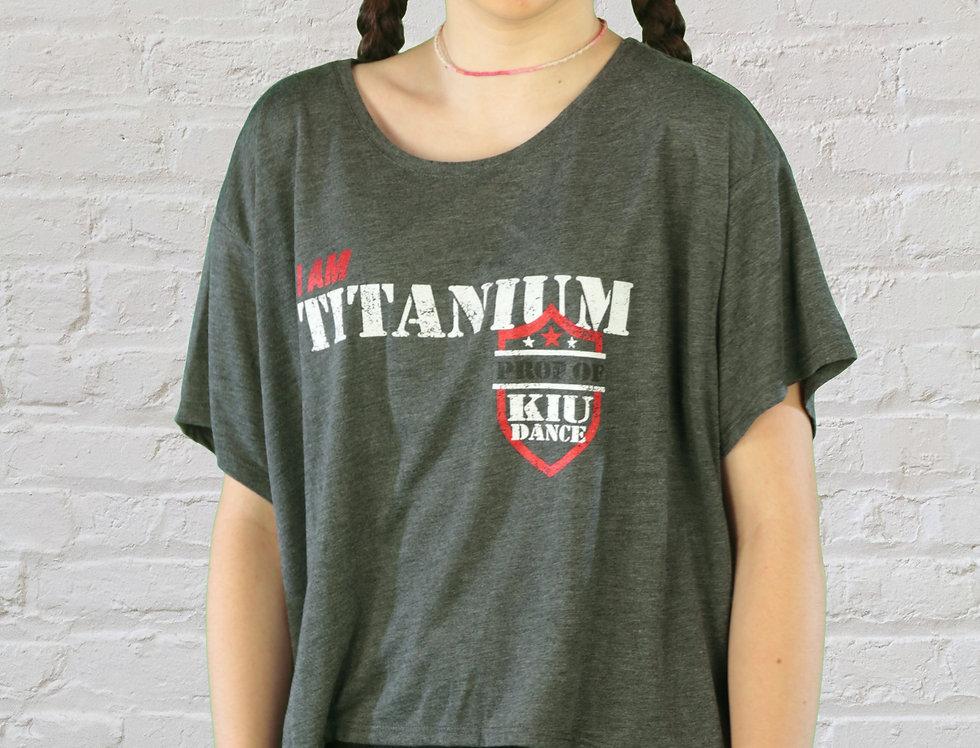Adult/Youth 'I Am Titanium' Crop T