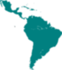 Silhouette of Central and South America