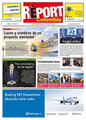 Cover of the 'Report Colombia' publication.