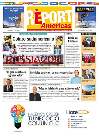 Cover of the 'Report Americas' publication.