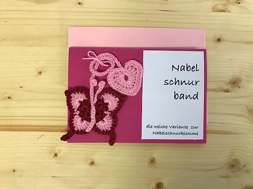 Nabelschnurband Schmetterling mit Karte