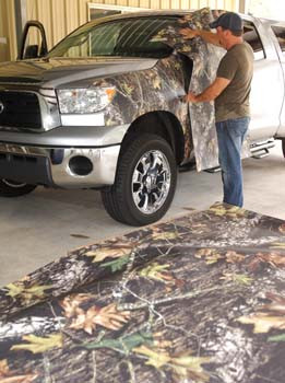 Tips to applying your camo vinyl wraps...