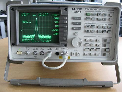 HP 8563A 9kHz 26.5 GHz spectrum analyzer