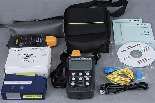 Hioki 3661 Optical Power Meter & 3663 Laser Light Source
